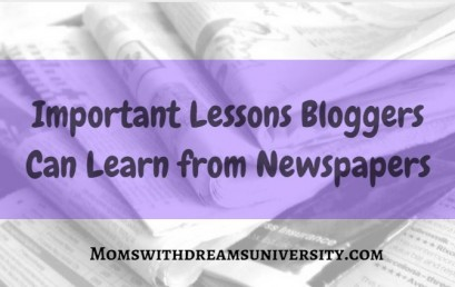 Important Lessons Bloggers Can Learn from Newspapers