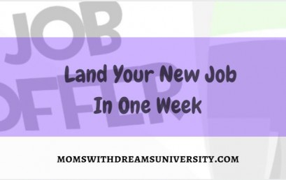 Land Your New Job In One Week